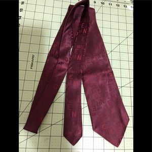Givenchy designer name maroon silk tie